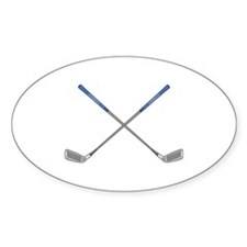 Golf Wood Oval Decal