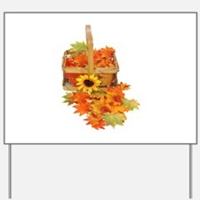 Country Fall Basket Yard Sign