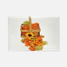 Country Fall Basket Rectangle Magnet (10 pack)
