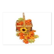 Country Fall Basket Postcards (Package of 8)