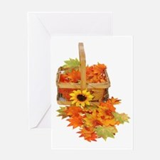 Country Fall Basket Greeting Card