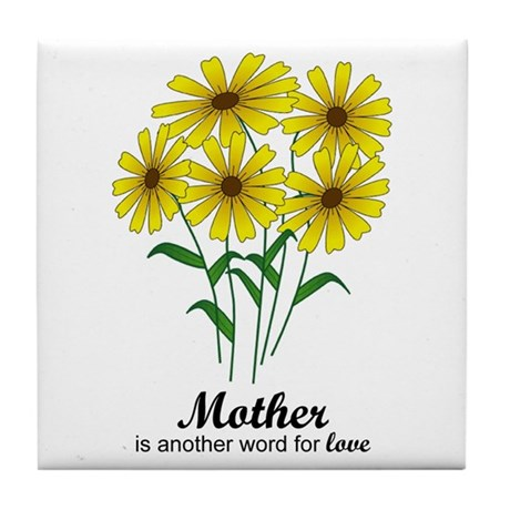 Mother's Day Daisies Tile Coaster
