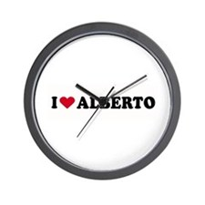 I LOVE ALBERTO ~  Wall Clock