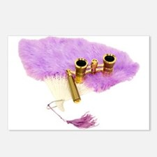 Fan and Opera Glasses Postcards (Package of 8)