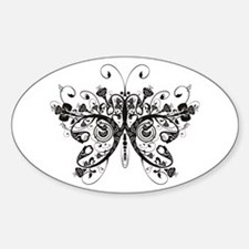 Butterfly Oval Decal