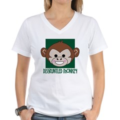 Disgruntled Monkey Women's V-Neck T-Shirt