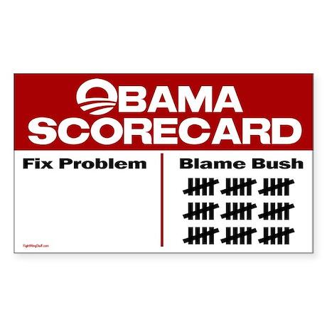 Obama Scorecard Rectangle Sticker