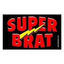 Super Brat... Rectangle Decal