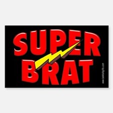 Super Brat... Rectangle Decal