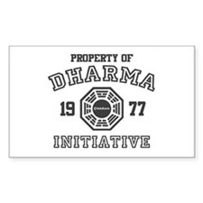 Property of Dharma Initiative Rectangle Decal
