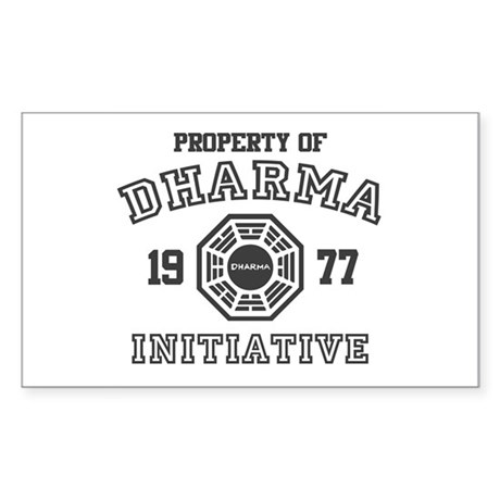 Property of Dharma Initiative Rectangle Sticker