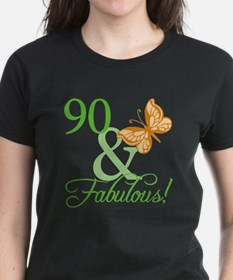 90 & Fabulous Birthday Tee