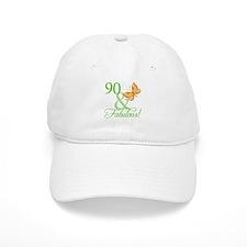 90 & Fabulous Birthday Baseball Cap