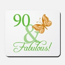 90 & Fabulous Birthday Mousepad