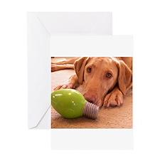 Puppy Lightbulb Greeting Card