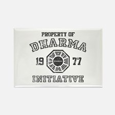 Property of Dharma Distressed Rectangle Magnet