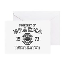 Property of Dharma Distressed Greeting Card
