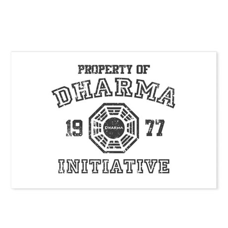 Property of Dharma Distressed Postcards (Package o