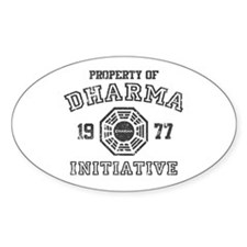 Property of Dharma Distressed Oval Decal