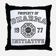 Property of Dharma Distressed Throw Pillow