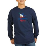 Support Haiti Long Sleeve Dark T-Shirt