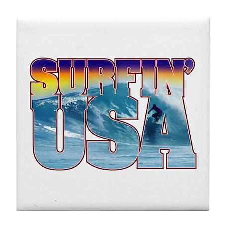 Surfin' USA Tile Coaster