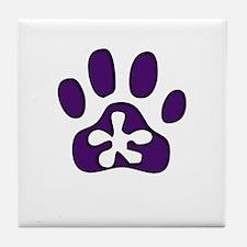 Purple Pawprint Tile Coaster