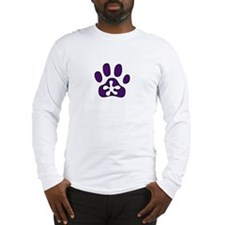 Purple Pawprint Long Sleeve T-Shirt