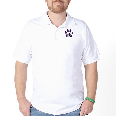 Purple Pawprint Golf Shirt