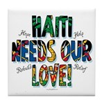Haiti Needs Our Love Tile Coaster