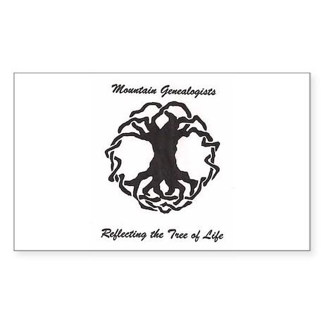Mountain Genealogists Rectangle Sticker
