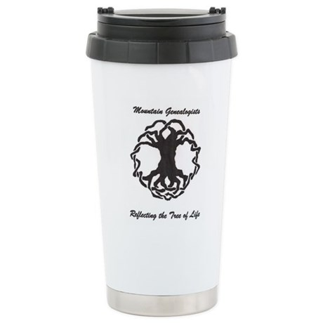 Mountain Genealogists Stainless Steel Travel Mug