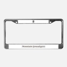 Mountain Genealogists License Plate Frame