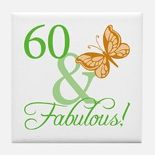 60 & Fabulous Birthday Tile Coaster