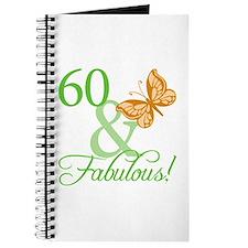 60 & Fabulous Birthday Journal