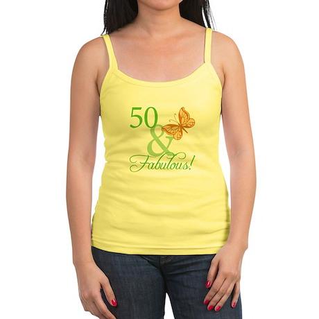 50 & Fabulous Birthday Jr. Spaghetti Tank