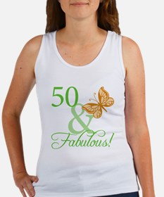 50 & Fabulous Birthday Women's Tank Top