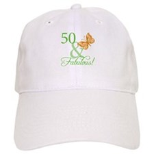 50 & Fabulous Birthday Baseball Cap