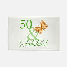 50 & Fabulous Birthday Rectangle Magnet (100 pack)