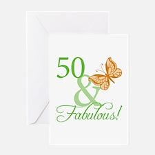 50 & Fabulous Birthday Greeting Card