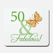50 & Fabulous Birthday Mousepad