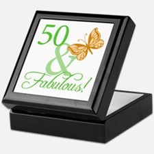 50 & Fabulous Birthday Keepsake Box