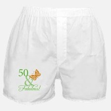 50 & Fabulous Birthday Boxer Shorts