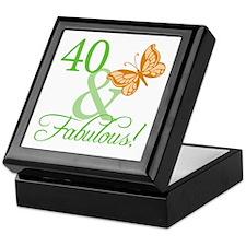 40 & Fabulous Birthday Keepsake Box