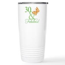 30 & Fabulous Birthday Thermos Mug
