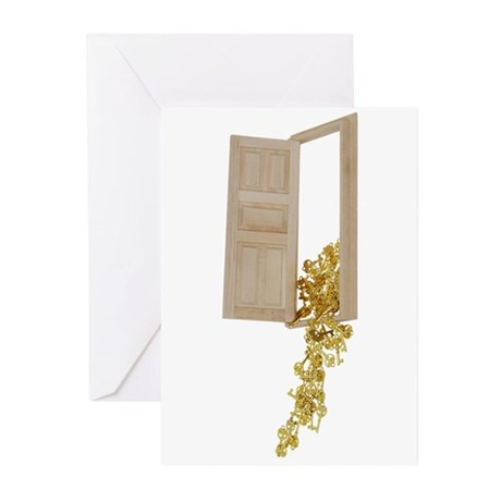 Key to Success Gold Greeting Cards (Pk of 10)
