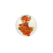 Leaves in Ice Bucket Mini Button (10 pack)