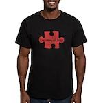 Autism Love Men's Fitted T-Shirt (dark)