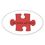 Autism Love Oval Sticker (10 pk)
