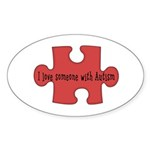 Autism Love Oval Sticker (50 pk)